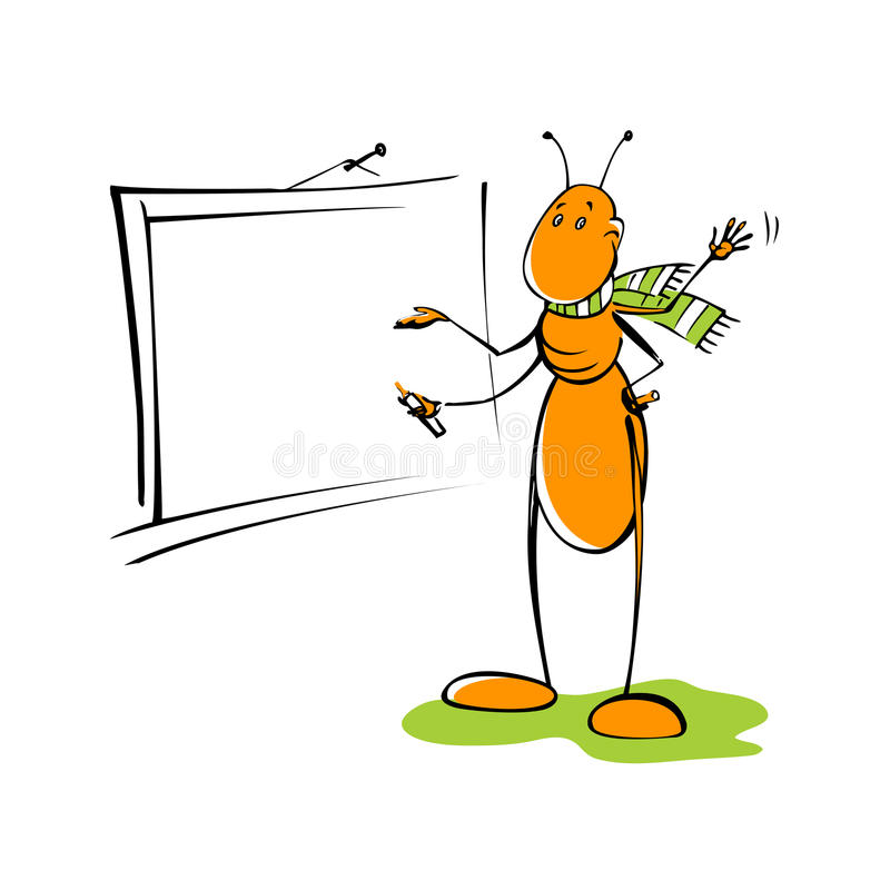 Download Ant stock vector. Image of hand, stripe, insect, lesson - 22152377