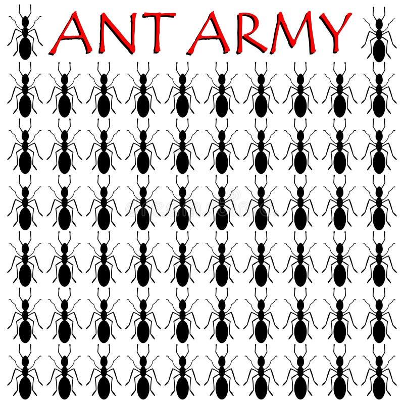 Ant Army - illustration royaltyfri illustrationer