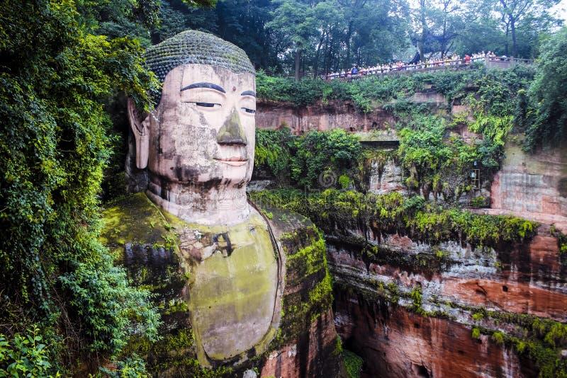 Ant Buddha i Leshan, Sichuan, Kina royaltyfria foton