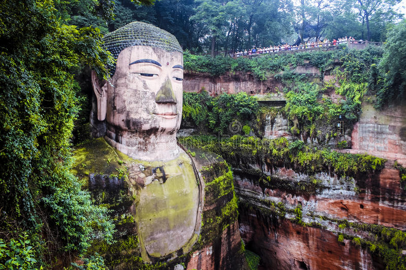 Ant Buddha in Leshan, Sichuan, China lizenzfreie stockfotos