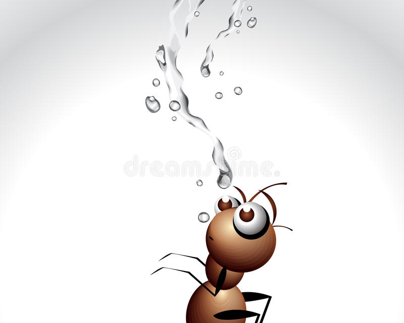 Ant Character Royalty Free Stock Photo
