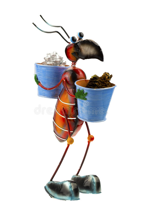 Ant. A concept of big ant working hard stock images