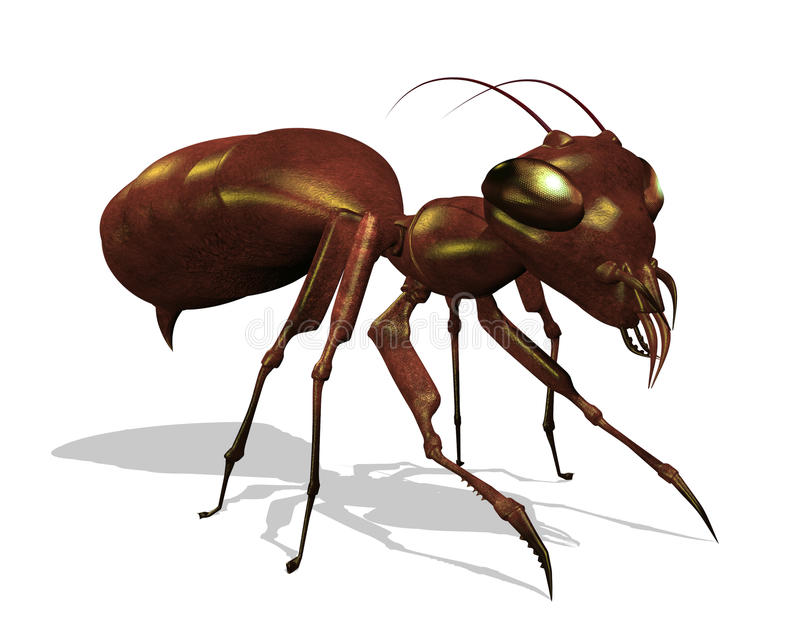 Download Ant - Extreme Close Up stock illustration. Image of exterminate - 14782588