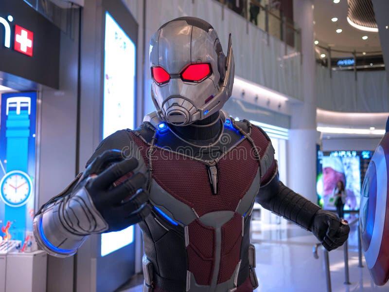 Ant Man i kapten America 3 royaltyfri bild