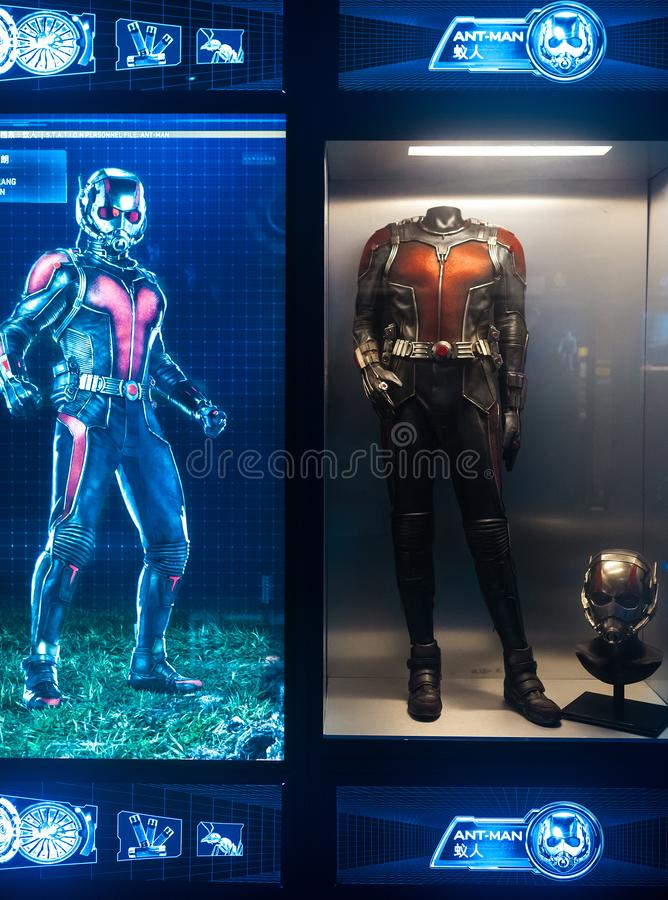 Ant-Man model, equip stock image