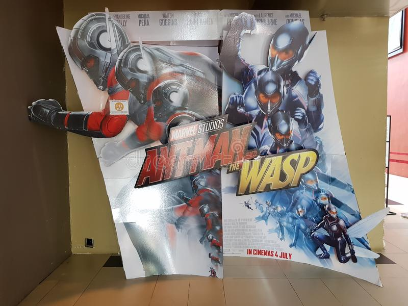 Ant-Man and the Wasp. KUALA LUMPUR, MALAYSIA - 18 JULY, 2018 : Ant-Man and the Wasp movie poster. This movie is about Ant-Man fighting alongside The Wasp to stock photos