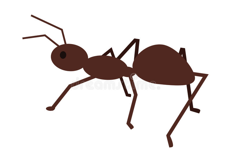 Ant Vector Illustration i plan stildesign royaltyfri illustrationer