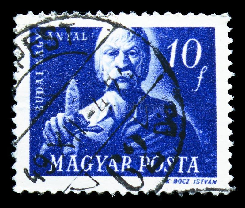 Antal Budai-Nagy -1437, serie húngaro dos lutadores da liberdade, cerca de 1947 imagem de stock royalty free