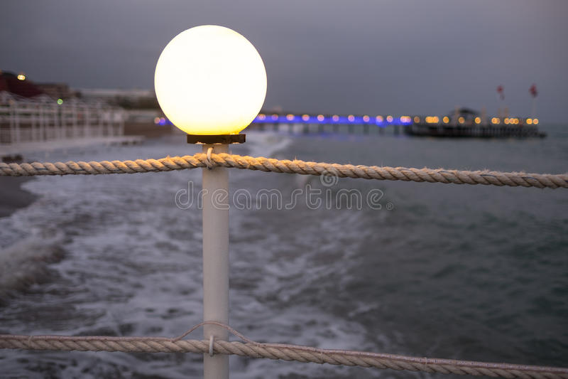 Antalya Beach. In the evening royalty free stock photo