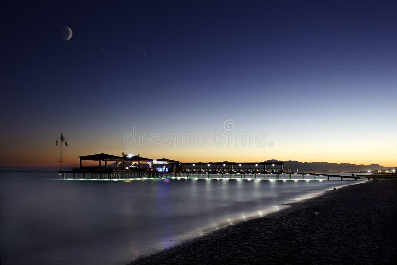 Download Antalya. Belek. stock photo. Image of relax, night, pier - 26605582