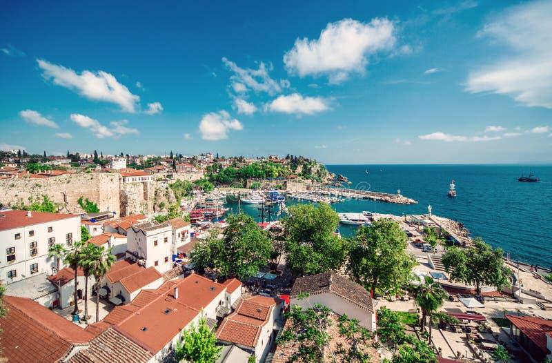 Antalya cityscape royaltyfri bild