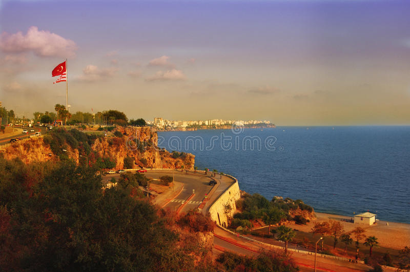Download Antalya coast stock image. Image of skyline, coast, landscape - 35618639