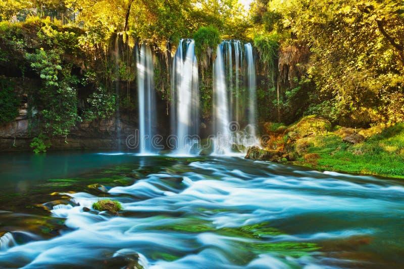 antalya duden kalkonvattenfallet royaltyfria foton