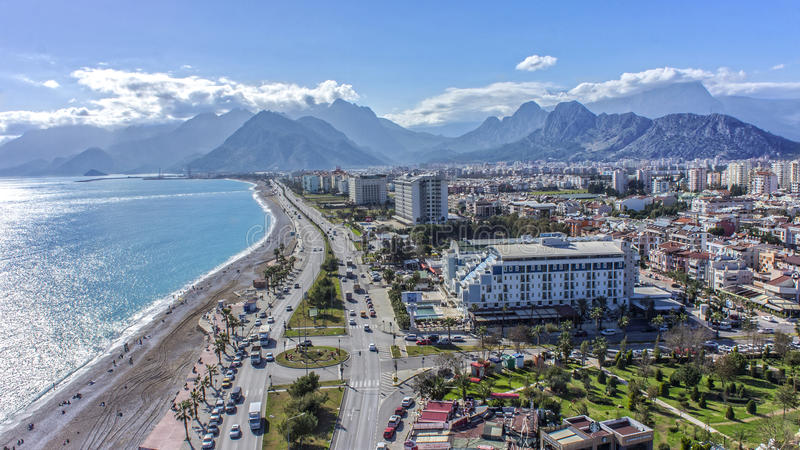 Antalya earial fotografia obraz stock