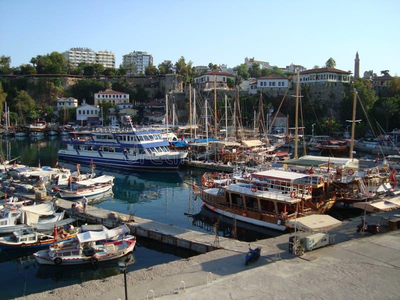 Antalya harbor stock photo