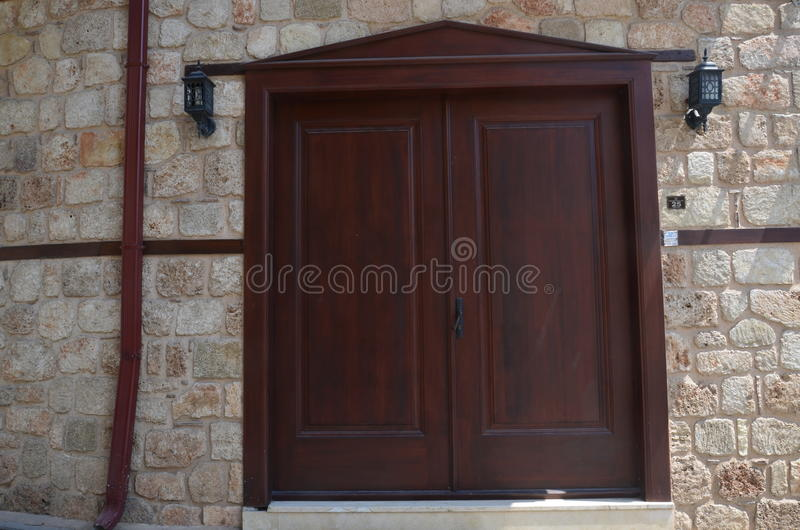 Antalya kaleici yummy drzwi obraz stock