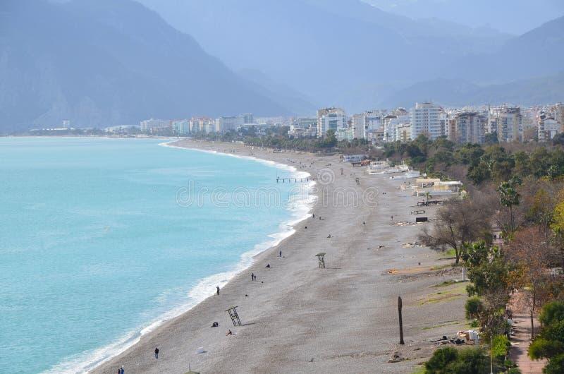 Antalya konyaaltı plaża obraz stock
