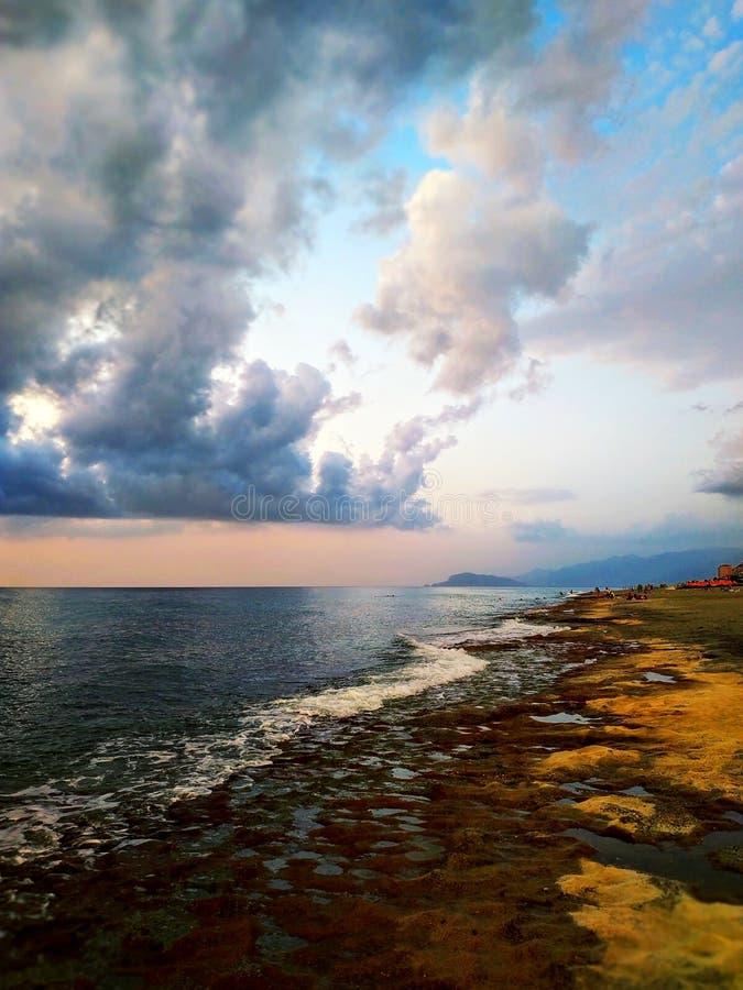 Antalya kust i November arkivfoton