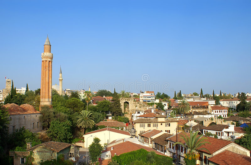Antalya old town view royalty free stock photography