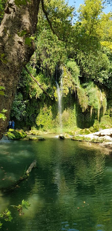 Antalya siklawa fotografia stock