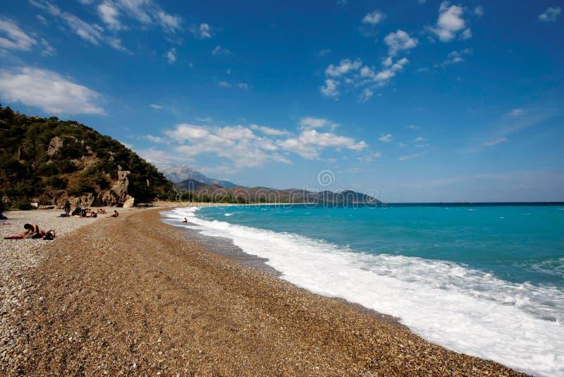 Antalya, strand Olympos stock fotografie