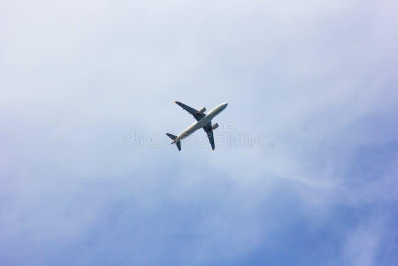 Antalya, Turkey -17 May 2018; International Antalya Airport the plane is landing. Antalya Turkey. stock photo