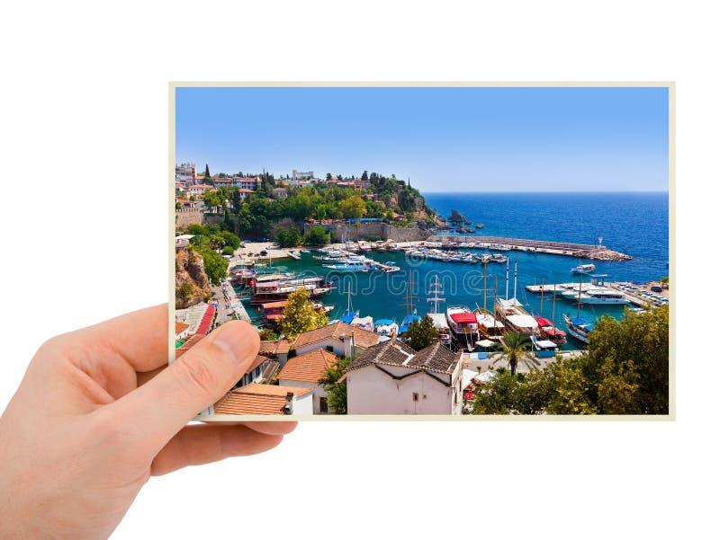 Antalya Turkey photography in hand stock image