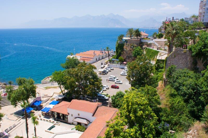Antalya view of the Mediterranean sea.Bright Sunny summer day. stock photo