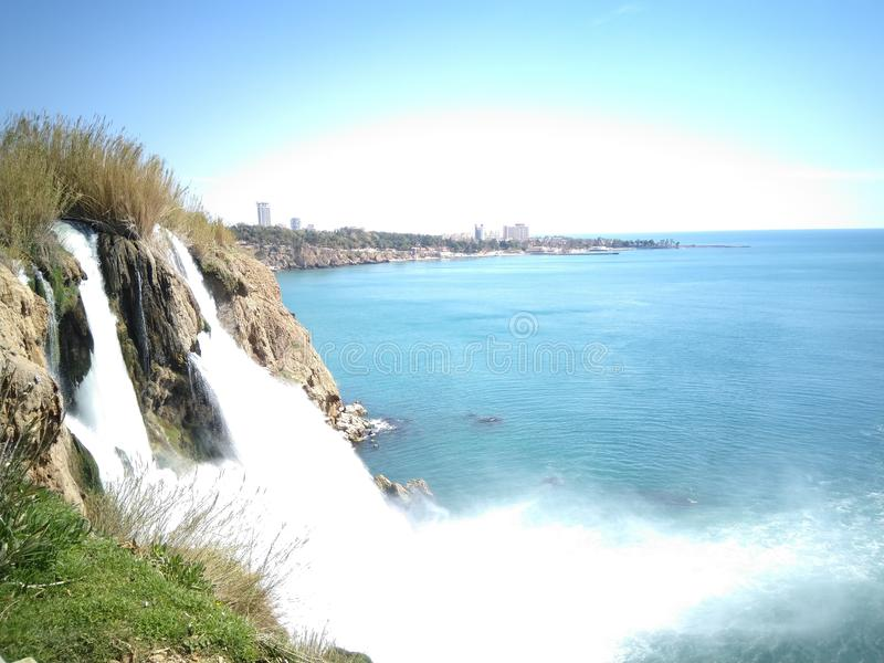 Antalya waterfall stock images