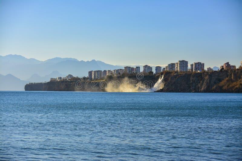 Antalya widoki na burzowym dniu obraz royalty free