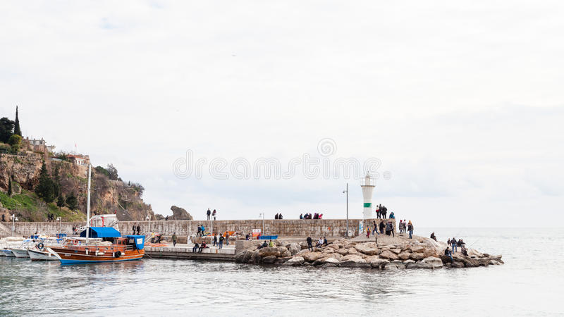 Antalyahaven royalty-vrije stock foto