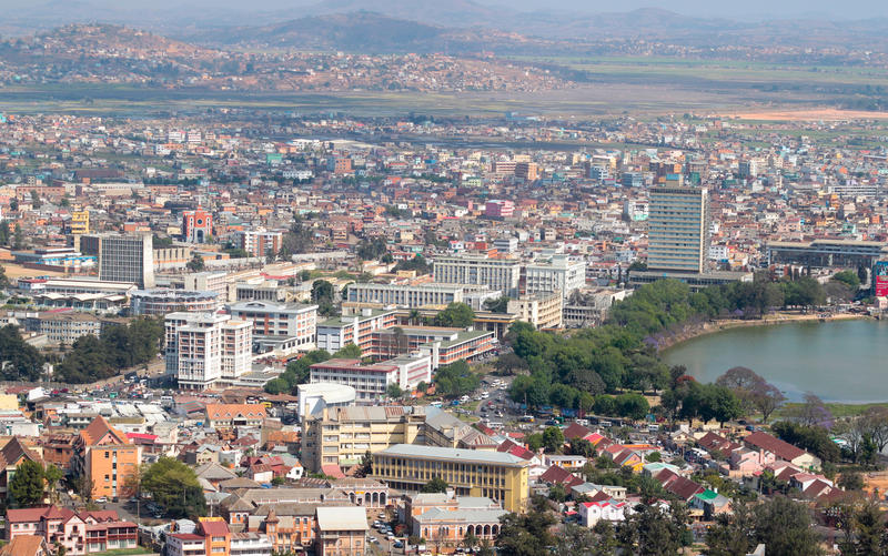 Antananarivo lizenzfreie stockfotos