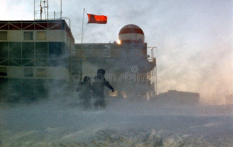 Antarctic blizzard stock images