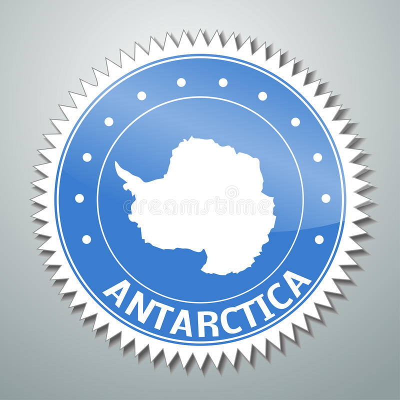 Antarctic Flag Label Royalty Free Stock Image