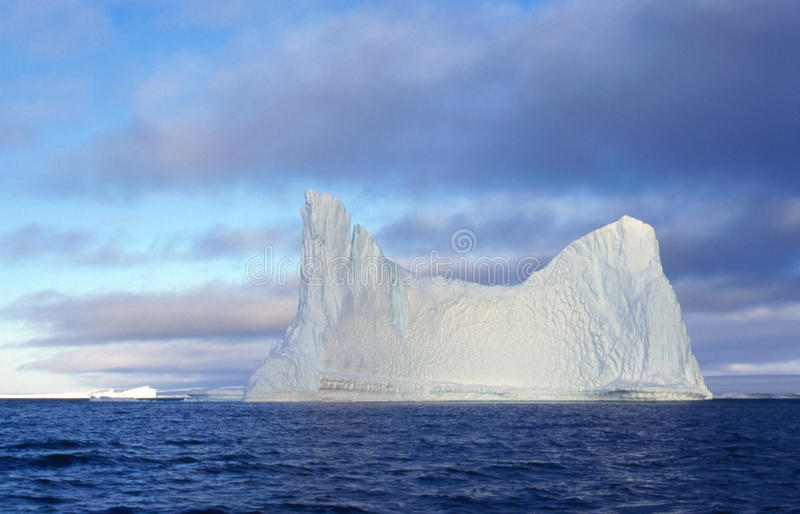 Antarctic Iceberg I. Nine-tenths of an iceberg is underwater. Thus this is just the tip of the iceberg royalty free stock images