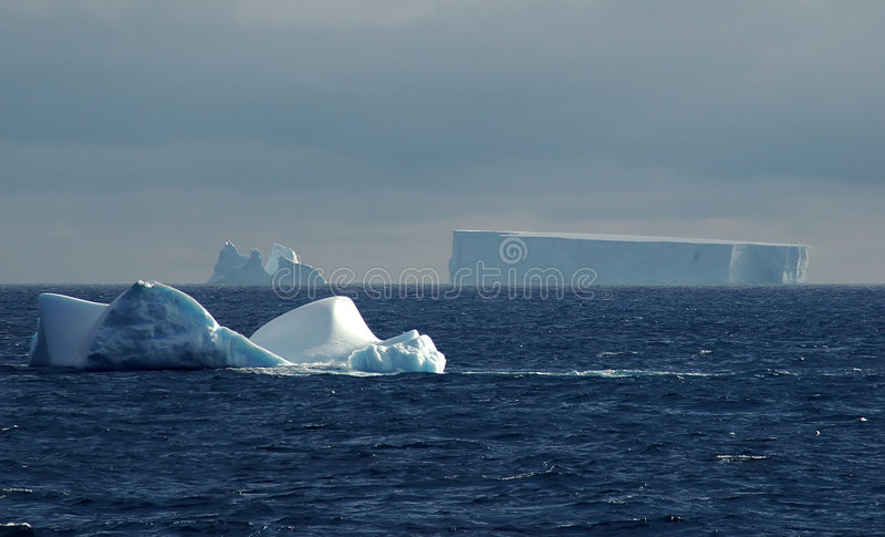Antarctic iceberg scenery stock photo