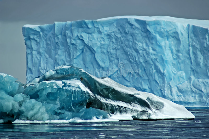 Antarctic icebergs royalty free stock images