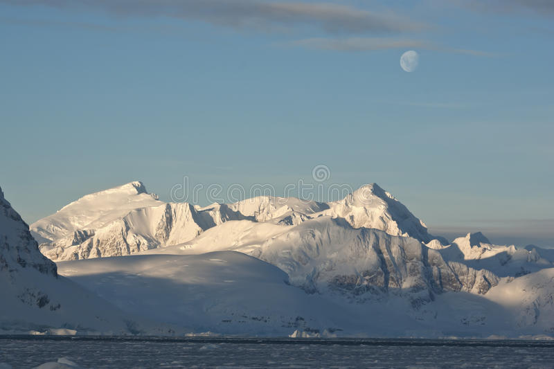 Download Antarctic Mountains Under The Moonlight On A Day. Stock Photo - Image of nature, north: 29323884