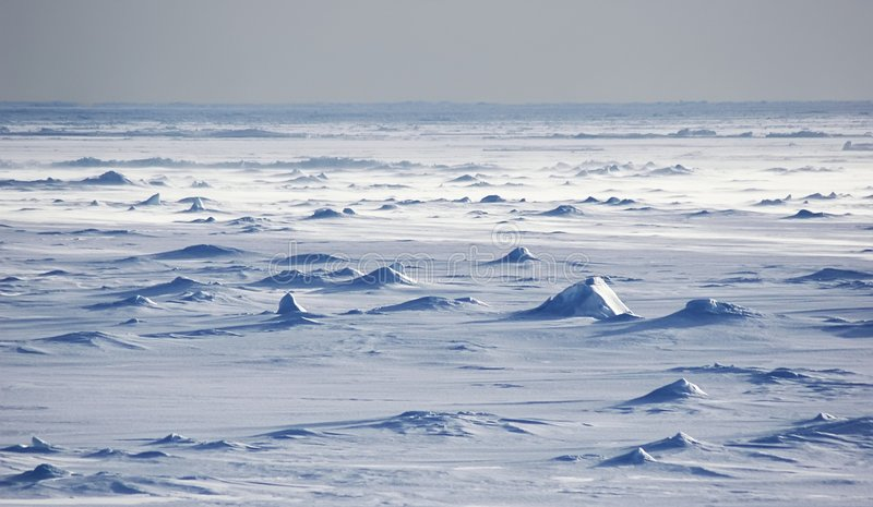 Antarctic snowfields stock photography