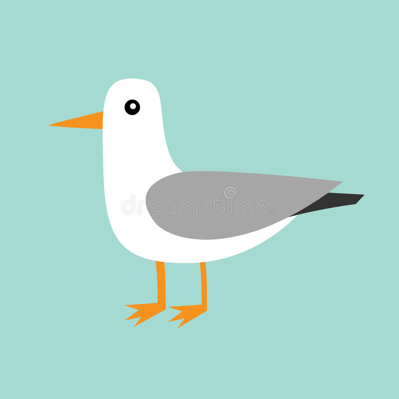 Antarctica albatross icon. Petrel Seagull wandering royal bird. Arctic animal collection. Cute cartoon baby character. Winter blue. Background. Isolated. Flat vector illustration