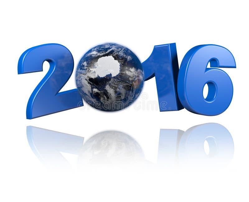 Antarctica centered Earth view 2016 design vector illustration