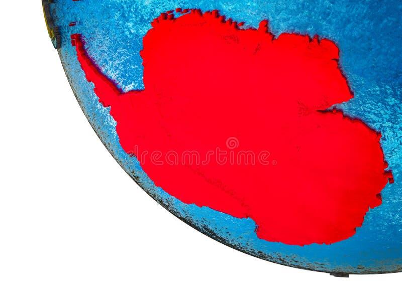 Antarctica on 3D Earth stock illustration
