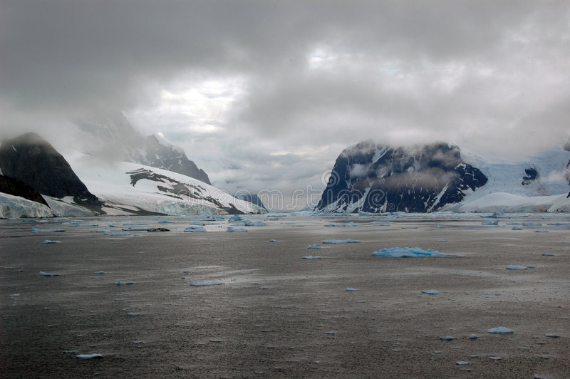 Antarctica frozen sea view stock images