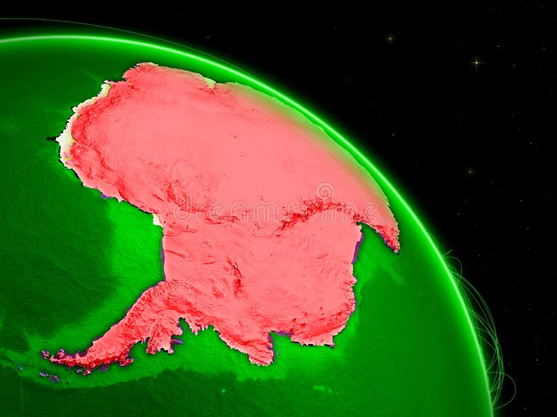 Antarctica on green Earth royalty free illustration