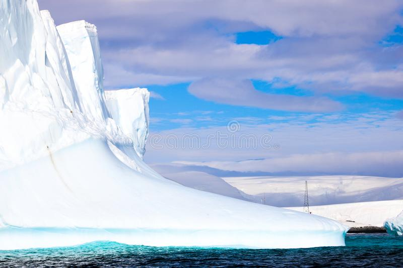 Antarctica in winter. Antarctica in a January winter 2018 royalty free stock images