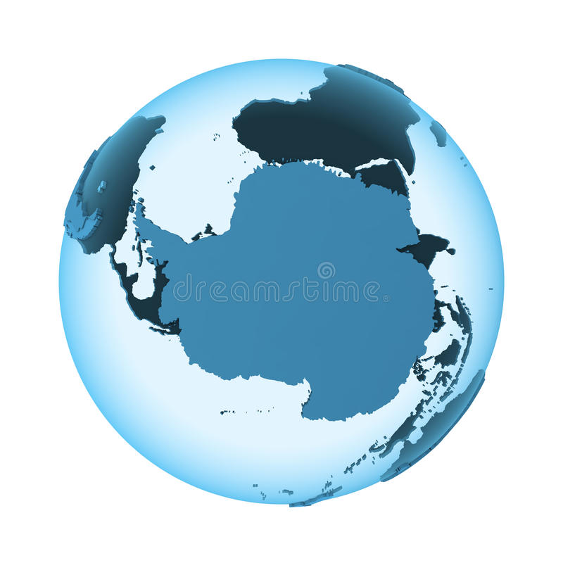 Antarctica na półprzezroczystej ziemi royalty ilustracja