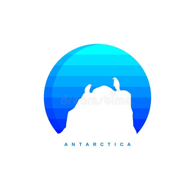 Antarctica theme ice berg logo template. Vector stock illustration