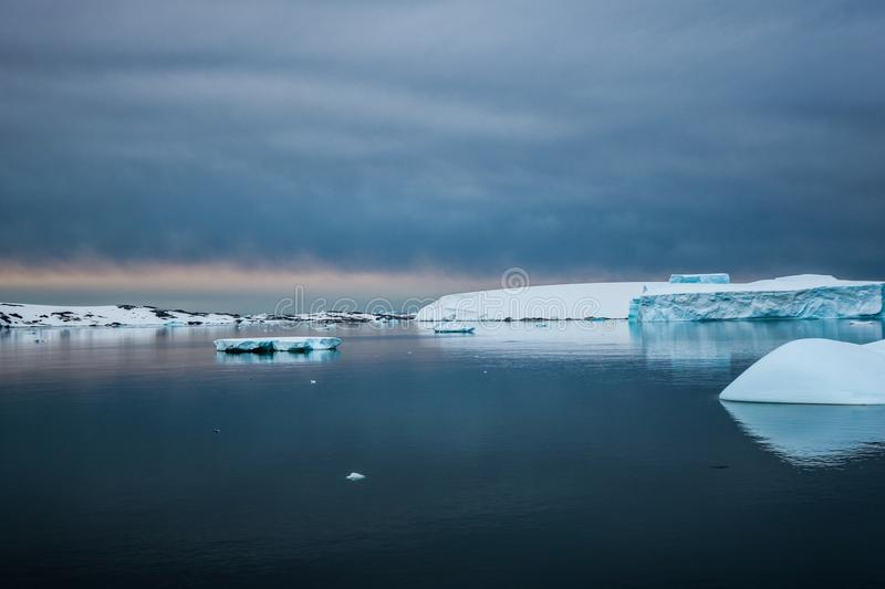 Antarctica in winter. Antarctica in a January winter 2018 royalty free stock photography