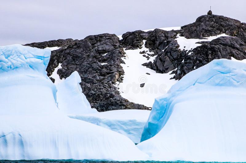 Antarctica in winter. Antarctica in a January winter 2018 royalty free stock photo