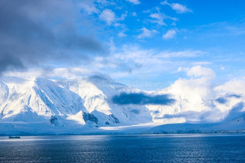 Antarctica in winter. Antarctica in a January winter 2018 royalty free stock image
